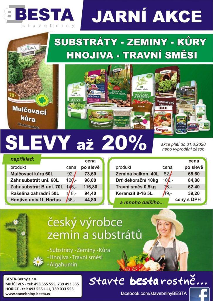 AKCE JARO 2020 - Zahrada, substráty, zeminy, kůry - Rašelina Soběslav